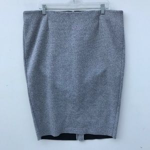 Torrid Ribbed Pencil Skirt Stretchy Gray 20 #1094